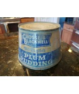 VINTAGE CROSSE & BLACKWELL PLUM PUDDING CAN TIN OPEN ON ONE END - $69.20
