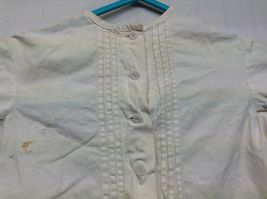 Vintage Off White Linen Button Up Baby Dress  image 6