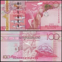 Seychelles 100 Rupees, 2011, P-43b, UNC - $16.99