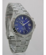 Seiko watch mens watches stainless steel kinetic blue dial movement 5M62... - $341.88