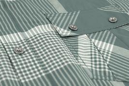 Men's Short Sleeve Cowboy Button Down Casual Plaid Pattern Western Dress Shirt image 5