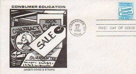 SCOTT #2005 20c Consumer Education, 1ST DAY COVER  4/27/1982 - $0.99