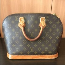 Auth Louis Vuitton Alma Hand Bag Brown Monogram Medium Leather PVC LVB0081 - $416.79