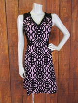 Adrianna Papell V Neck Dress Size 2 Knee Length Sleeveless Stencil-- NWT $159 - $74.05