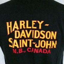 VTG 1989 Harley Davidson 3D Emblem Street Tough T Shirt 80s Tee Biker Trucker XL image 6