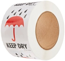 "Tape Logic IPM303 Shipping and Handling Label, Legend""KEEP DRY"" with Gra... - $21.67"
