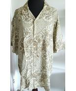 OP Ocean Pacific Aloha Shirt Brown Hawaiian Floral Wood Buttons Cotton S... - $4,158.00