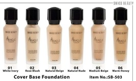 Swiss Beauty Miracle Touch Cover Base Foundation ~ SPF 15 Select The Colour - $16.62