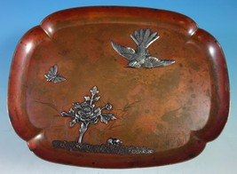 Mixed Metals by Gorham Sterling Silver Copper and Silver Tray #B73 (#1557) - $1,290.20