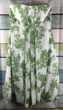Davids Bridal Clover Green Floral Short Sleeveless Bridesmaid Dress Sz 8 - $21.29