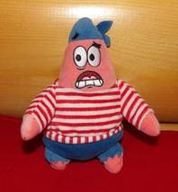 "SpongeBob SquarePants TY Beanie Plush 7"" First Mate PATRICK Starfish Sailor - $5.59"