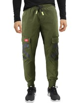 Men's Casual Cargo Pocket Pants Gym Workout Athletic Sport Drawstring Joggers image 2