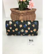 Coach Wallet Tea Rose Floral Print Slim Envelope F57979 Black Multi W20 - $107.79