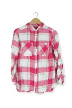 George pink plaid check blouse shirt top Size 12 - $13.11