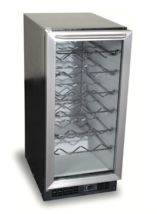 "Scotsman SCV32-1SD 15"" Wine Cooler Refrigerator Black/Stainless - 32 Bot... - $292.05"