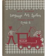 Language Arts Spellers Grade 6 Off to New Places Textbook Edition 1954 V... - $9.89