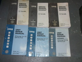 1998 Chevrolet Chevy Corvette Service Shop Repair Manual Set FACTORY - $142.99