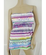 Nwt Jessica Simpson Swimsuit Bandeau Strapless Tankini Top Sz M Medium P... - $32.62