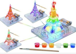 Flashing Skyscraper Eiffel Tower, Paint Your Design INNONEX DYI Kids Toys  - $14.50