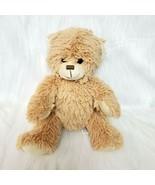 "10"" Pouchey Toys Bear Tan Plush Sitting Stuffed Animal Toy Sewn Face Lov... - $14.93"