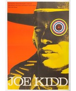 JOE KIDD Western Movie Poster Clint Eastwood 1970s Collage Cinema Art La... - $315.00