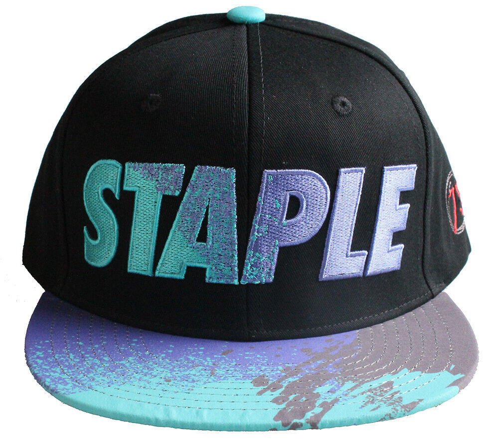 Staple World Renown Pigeon Brand Men's Aqua Snapback Hat NWT