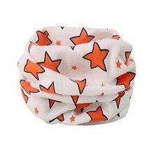 2PCS Multicolor Children's Warm Neckerchief Cute Scarves Cotton O-Neck Scarves