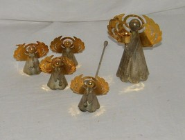 Lot Silverplate Brass Angel Candle Snuffer Vintage 19155 Ornament Christ... - $11.74