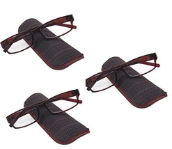 3 pair Foster Grant Professional Reading Glasses w cases Brown Tortoise ... - $17.59