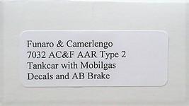 Funaro & Camerlengo HO Mobilgas AC&F AAR Type 2 Tank Car kit 7032 image 3