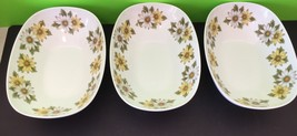 Set Of 3 Noritake 6730 Cookin Serve Marguerite Oval Serving Bowls Daisies - $56.10