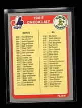 1985 FLEER #658 CHECKLIST 392-481 NMMT - $0.99
