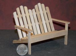 1 Pcs Dollhouse Miniature Wood Chair Porch Deck Outdoor 1:12 inch scale ... - $40.00