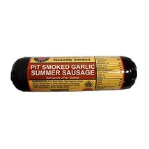 Wisconsin Best Pit Smoked Summer Natural Garlic Sausage, 12 Ounce