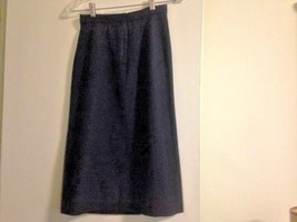 Vintage Ellen Tracy Black Wool Skirt - $60.00