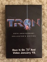 Walt Disney's Tron 20th Anniversary DVD Video Promo Movie Pin Button Pinback - $8.99