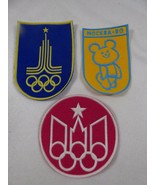1980 SUMMER OLYMPICS XXII MOSCOW RUSSIA OLYMPIC GAMES LOT OF 3 PATCHES P... - $29.70