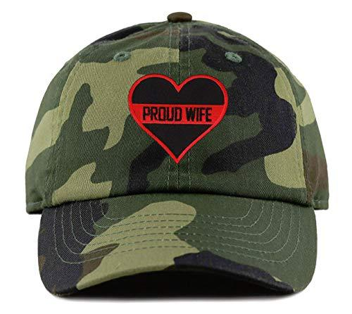 Thin Red Line Proud Wife Hat Adjustable Camo Firefighters