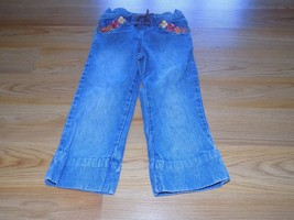 Toddler Size Large 5 Years 5T Gymboree Denim Jeans Hemmed to Capri Lengt... - $12.00