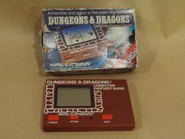 DUNGEONS & DRAGONS RARE VINTAGE HANDHELD MATTEL COMPUTER FANTASY GAME 19... - $74.99