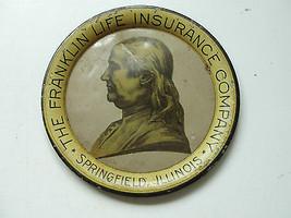 Franklin Life Insurance Company Springfield, Illinois, tin tray, old,adv... - $59.38