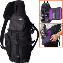Camera Bag Sling Backpack Style Camera Backpack with Padded Crossbody Strap - $44.43