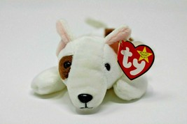 Ty Beanie Baby Butch Dog White 1999 PE Pellets DOB Oct 1998 - $9.55