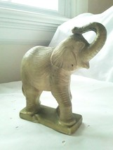 Vintage Wax Paraffin Gold Elephant Figurine Used Good Condition No Wick - $24.75