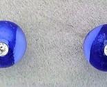 Dark blue glass crystal 6mm stud earring thumb155 crop