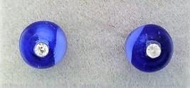 Sapphire Glass Crystal 6mm Stud Earrings - $8.00
