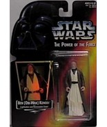 Star Wars Power of the Force Ben Kenobi (Obi-wan) with Hologram Red Card... - $28.41