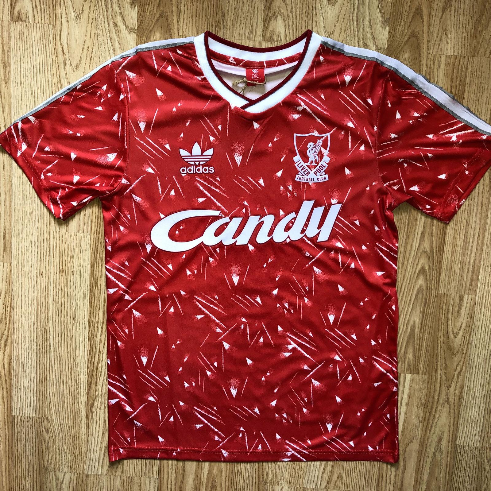 Liverpool Candy Retro Jersey Football Soccer LFC Shirt Top - Men
