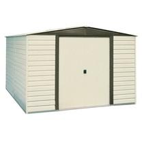 Storage Shed Building 10x6 Vinyl Coated Steel Finish Sliding Door Outdoo... - $697.66