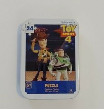 Toy Story 4 mini puzzle in collector tin Woody & Buzz 24 pcs New Sealed ... - $4.99